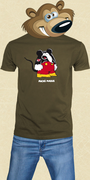 t shirt Mickey Mouse - Army