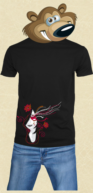 t shirt Red Eye Girl