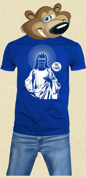 t shirt Jesus Saves Blue